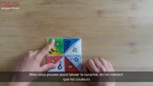 Capture d'écran d'une vidéo tutoriel Créer son quizz cinéma