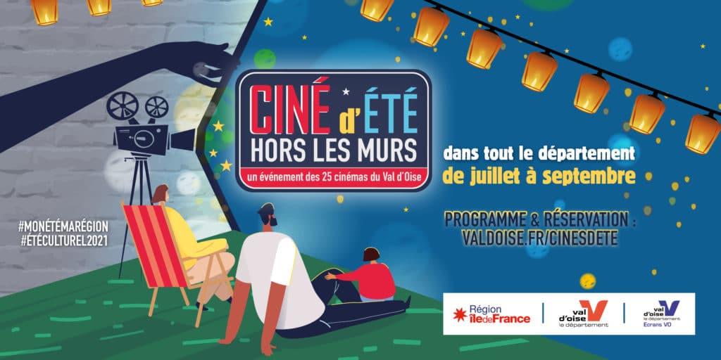 Visuel ciné d'été hors les murs 2021 - Un événement des 25 cinémas du Val d'Oise
